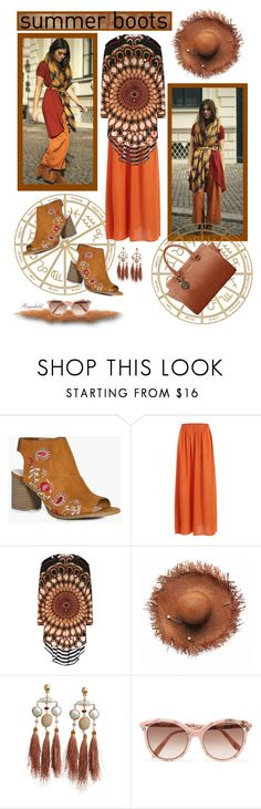 """""""Summer Booties"""" by ragnh-mjos ❤ liked on Polyvore featuring Boohoo, Givenchy, Gas Bijoux and Victoria Beckham"""