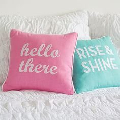 Good Day Greeting Reversible Pillow #pbteen - teen side - out of stock