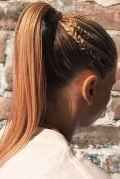 hair hair updos Perfect Hair Updos For Per Different Braid Hairstyles, Single Braids Hairstyles, Sporty Hairstyles, Trending Hairstyles, Hairstyles For Softball, Hairstyles Haircuts, Hairstyles For Thick Hair, Pretty Braided Hairstyles, Softball Hair