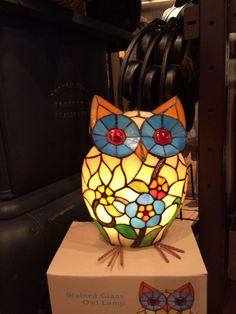 Owl Lamp at Cracker Barrel Owl Home Decor, Owl Kitchen, Beautiful Owl, Owl Crafts, Stained Glass Lamps, Wise Owl, Owl Bird, Night Owl, Owl House