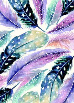 """""""Wild Feathers"""" print on metal by Uma Gokhale #boho"""