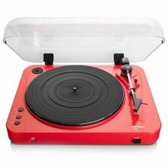 Lenco L-85 Turntable with USB Direct Recording [Red]