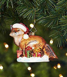 Christopher Radko Festive Fox Ornament