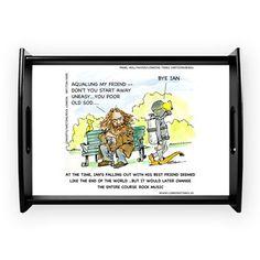 #Aqualung #Parody #Cartoon #CoffeeTray by @LTCartoons #cafepress #jethrotull #humor #sale #gift #kitchen #coffee #tea