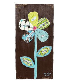 Another great find on #zulily! Flower Hand-Painted Paper & Canvas Wall Art by Creative Co-Op #zulilyfinds
