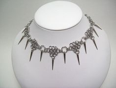 see their online store here: www.etsy.com/shop/eternalelfcreations  Sexy spike necklace chainmaille choker by Eternalelfcreations, $30.00