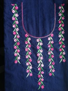 530 Best Neck Line Embroidery Design Images Embroidered Dresses