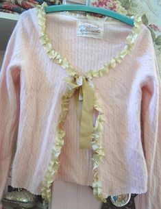 Love the trim on this cute sweater!