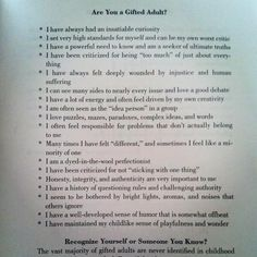 Are you #gifted? - Also see page: Self-tests : giftedness / high ability http://talentdevelop.com/selftest2.html