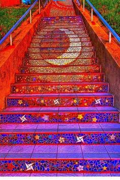 Mosaic Tile Stairs (staircase)