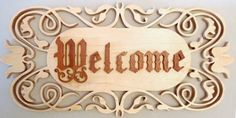 celtic cross scroll saw patterns free | SLD250 - Fretwork Layered Welcome Sign