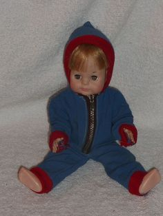 """Vintage 1960-1970s Vogue Doll 11"""" Littlest Angel in Cute Hooded Snowsuit 