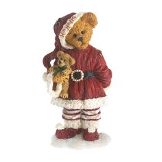 Boyds Bear Figurine Nikki Goodfriend with Lil' Holly Christmas Figurine Santa Boyds Bears, Teddy Bears, Perfect Christmas Gifts, Holly Christmas, Christmas Time, Christmas Decor, Christmas Figurines, Deck The Halls, Collectible Figurines