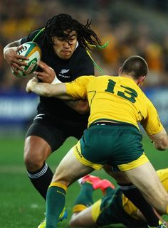 Ma'a Nonu runs the ball during The Rugby Championship Bledisloe Cup match between Australia and New Zealand.