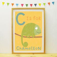 Chameleon poster/print | Paper Penknife