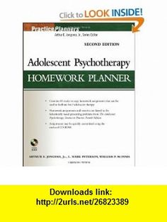 Adolescent Psychotherapy Homework Planner (PracticePlanners) (9780471785378) Arthur E. Jongsma Jr., L. Mark Peterson, William P. McInnis , ISBN-10: 0471785377  , ISBN-13: 978-0471785378 ,  , tutorials , pdf , ebook , torrent , downloads , rapidshare , filesonic , hotfile , megaupload , fileserve