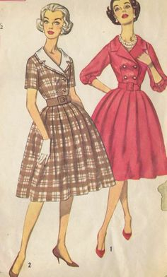 1 PC DRESS VINTAGE SEWING PATTERN SIMPLICITY 3278 SIZE 11 BUST 31.5 HIP 33.5 CUT