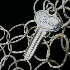 Signature fables Sterling silver Key (chain sold separately) hand-signed