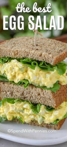 This simple homemade egg salad recipe is great for egg salad sandwiches, and as an easy lunch recipe! This simple homemade egg salad recipe is great for egg salad sandwiches, and as an easy lunch recipe! Best Egg Recipes, Healthy Recipes, Cooking Recipes, Favorite Recipes, Simple Salad Recipes, Simple Egg Salad Recipe, Simple Sandwich Recipes, Recipes With Celery, Recipes With Eggs