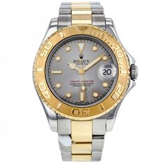 Rolex Yachtmaster 35mm 168623 Stainless Steel and 18K Yellow Gold Midsize #Rolex #LuxurySportStyles
