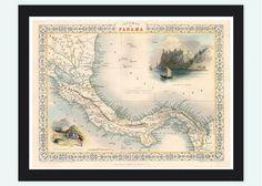 vintage-maps-prints:  (via Vintage Map of Panama, Old map 1857 - VINTAGE MAPS AND PRINTS)