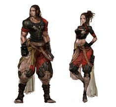 These illustrations seem to hold back on the colour and yet step forward with impact. Fantasy Rpg, High Fantasy, Medieval Fantasy, Fantasy Artwork, Arte Digital, Character Reference, Character Creation, Game Character, Character Concept