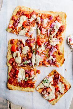 Socca Pizza (Vegan   GF) | potluck at ohmyveggies.com