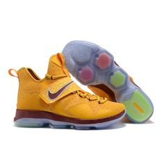 Nike Lebron 14 Mens Basketball Shoes Gold Red