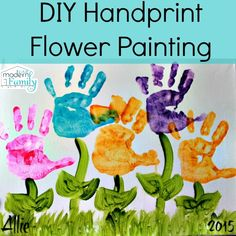 DIY Handprint Flower Painting  (Mother's Day gift idea!)