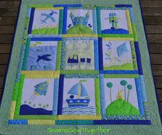 planes and boats quilt