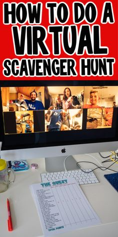 Want to do a virtual scavenger hunt? Check out these tips tricks and lists of items to search for on your virtual scavenger hunt! Educational Activities, Learning Resources, Fun Activities, Virtual Class, Virtual Games For Kids, Virtual Families, Library Programs, Team Building Activities, Family Games