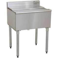 "Stainless Steel Commercial Back Bar Ice Bin 18"" Wide & 8"" Deep with Lid"
