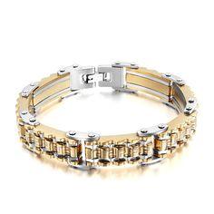 New Fashion 5mm Width Silver Titanium Basket Hand Chain Stainless Steel Men Jewelry Bracelets & Bangles Charm Bracelet Homme Clear-Cut Texture Bracelets & Bangles Jewelry & Accessories