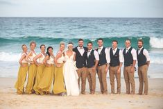 I'm kind of in love with the rustic beach side wedding of Marli and Dane. Marli looks so darn happy, (as does Dane) and the wedding location is special