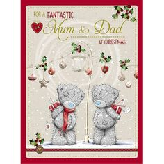 Fantastic Mum & Dad Large Me to You Bear Christmas Card £3.59