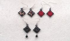 Beading4perfectionists: Superduo diamond / square shaped earrings beadin...