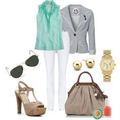 Ruffled Turquoise, created by mzcali4nia on Polyvore