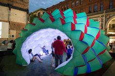 Fabric Prism, inflatable and immersive installation by American collective Pneuhaus - Design Journal