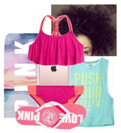 """Monday.. At the Beach with Kyree and my Aunty Wytika"" by illestqveen on Polyvore featuring Victoria's Secret, Casetify and Victoria's Secret PINK"