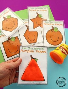 Preschool Pumpkin Activities for October - Make the Shape.