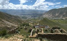 A view of the ruins of the Dorje Shugden temple at Tashi Choling. Below is the main temple of Tashi Choling.