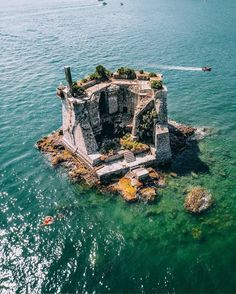 Cinque Terre Italy island house Is it a castle or a house? Whatever it is we'd love to spend a week on this private island in Cinque Terre Italy… guessing we can't afford it though so Glamping it is! Places To Travel, Places To See, Travel Destinations, Amazing Destinations, Dream Vacations, Vacation Spots, Photos Voyages, Natural Wonders, Wonders Of Nature