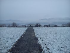 The viewing point in Aghadoe, Killarney is a snowy spot this morning