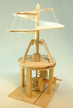 Leonardo da vinci Helicopter Construction Kit | Toys Etc. I really want to make this and the mediaeval catapult. Why?