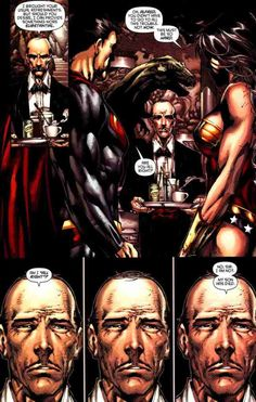 Alfred mourns Bruce Wayne, his son.  This one makes me cry all the time.