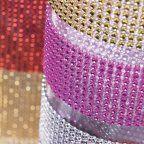 Diamond Rhinestone Ribbon Wrap Roll - BULK 10 yards (11 Colors Available!)