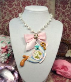 Tea Cup Party Vintage style Necklace!