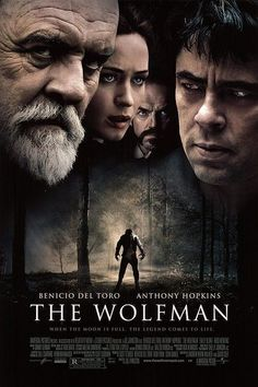 The Wolfman (2010). Benicio Del Toro, Anthony Hopkins, Emily Blunt. There are so many B horror movies (which I do enjoy), I am always thrilled when they make something with a decent cast. This was great!