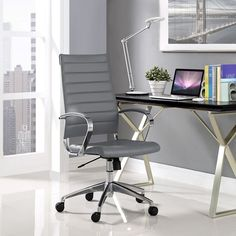 Jive Highback Office Chair in Gray - Lifestyle