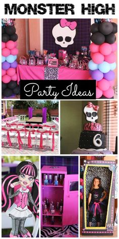 Cool Monster High party ideas at this girl birthday party! See more party ideas at CatchMyParty.com.